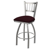 810 Contessa Swivel Stool with Stainless Finish and Canter Bordeaux Seat