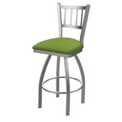 810 Contessa Swivel Stool with Stainless Finish and Canter Kiwi Green Seat