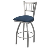 810 Contessa Swivel Stool with Stainless Finish and Rein Bay Seat