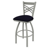 820 Catalina Swivel Stool with Anodized Nickel Finish and Canter Twilight Seat