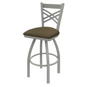 820 Catalina Swivel Stool with Anodized Nickel Finish and Graph Cork Seat