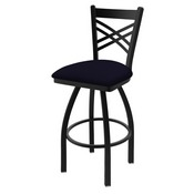 "820 Catalina 36"" Swivel Bar Stool with Black Wrinkle Finish and Canter Twilight Seat"
