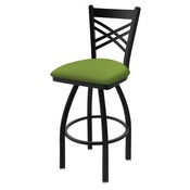 "820 Catalina 36"" Swivel Bar Stool with Black Wrinkle Finish and Canter Kiwi Green Seat"