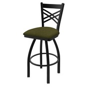 "820 Catalina 36"" Swivel Bar Stool with Black Wrinkle Finish and Graph Parrot Seat"