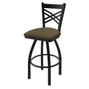 "820 Catalina 36"" Swivel Bar Stool with Black Wrinkle Finish and Graph Cork Seat"