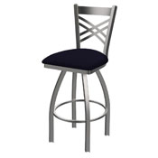 820 Catalina Swivel Stool with Stainless Finish and Canter Twilight Seat