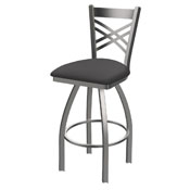 820 Catalina Swivel Stool with Stainless Finish and Canter Storm Seat