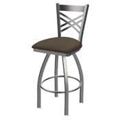 820 Catalina Swivel Stool with Stainless Finish and Canter Earth Seat