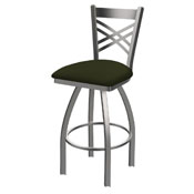 820 Catalina Swivel Stool with Stainless Finish and Canter Pine Seat