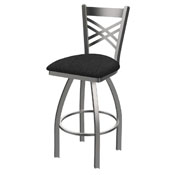 820 Catalina Swivel Stool with Stainless Finish and Graph Coal Seat