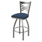 820 Catalina Swivel Stool with Stainless Finish and Rein Bay Seat