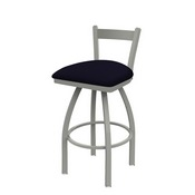 821 Catalina Low Back Swivel Stool with Anodized Nickel Finish and Canter Twilight Seat