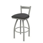 821 Catalina Low Back Swivel Stool with Anodized Nickel Finish and Canter Storm Seat