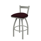 821 Catalina Low Back Swivel Stool with Anodized Nickel Finish and Canter Bordeaux Seat