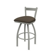 821 Catalina Low Back Swivel Stool with Anodized Nickel Finish and Canter Earth Seat