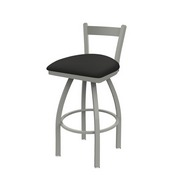 821 Catalina Low Back Swivel Stool with Anodized Nickel Finish and Canter Iron Seat