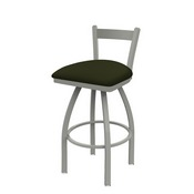 821 Catalina Low Back Swivel Stool with Anodized Nickel Finish and Canter Pine Seat