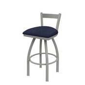 821 Catalina Low Back Swivel Stool with Anodized Nickel Finish and Graph Anchor Seat