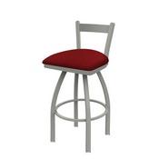 821 Catalina Low Back Swivel Stool with Anodized Nickel Finish and Graph Ruby Seat