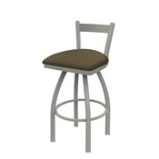 821 Catalina Low Back Swivel Stool with Anodized Nickel Finish and Graph Cork Seat