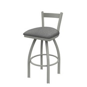 821 Catalina Low Back Swivel Stool with Anodized Nickel Finish and Graph Alpine Seat