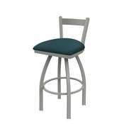 821 Catalina Low Back Swivel Stool with Anodized Nickel Finish and Graph Tidal Seat