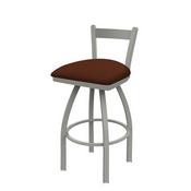821 Catalina Low Back Swivel Stool with Anodized Nickel Finish and Rein Adobe Seat