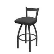 821 Catalina Low Back Swivel Stool with Pewter Finish and Canter Storm Seat