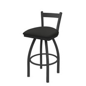 821 Catalina Low Back Swivel Stool with Pewter Finish and Canter Iron Seat