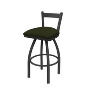 821 Catalina Low Back Swivel Stool with Pewter Finish and Canter Pine Seat