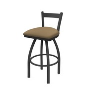 821 Catalina Low Back Swivel Stool with Pewter Finish and Canter Sand Seat