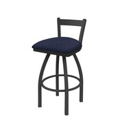 821 Catalina Low Back Swivel Stool with Pewter Finish and Graph Anchor Seat