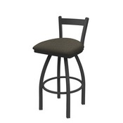 821 Catalina Low Back Swivel Stool with Pewter Finish and Graph Chalice Seat