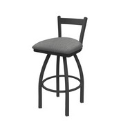 821 Catalina Low Back Swivel Stool with Pewter Finish and Graph Alpine Seat