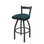 821 Catalina Low Back Swivel Stool with Pewter Finish and Graph Tidal Seat