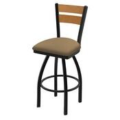 832 Thor Swivel Stool with Black Wrinkle Finish, Medium Back and Canter Sand Seat