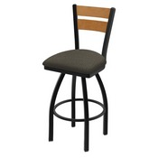 832 Thor Swivel Stool with Black Wrinkle Finish, Medium Back and Graph Chalice Seat