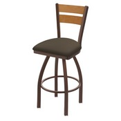 832 Thor Swivel Stool with Bronze Finish, Medium Back and Canter Earth Seat