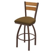 832 Thor Swivel Stool with Bronze Finish, Medium Back and Canter Saddle Seat
