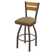 832 Thor Swivel Stool with Bronze Finish, Medium Back and Canter Sand Seat