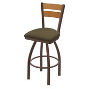 832 Thor Swivel Stool with Bronze Finish, Medium Back and Graph Cork Seat