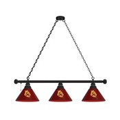 Arizona State 3 Shade Billiard Light with Fixture and Sparky Logo by Holland Bar Stool