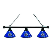 Colorado Avalanche 3 Shade Billiard Light with Fixture by Holland Bar Stool