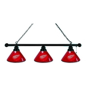 Detroit Red Wings 3 Shade Billiard Light with Fixture by Holland Bar Stool
