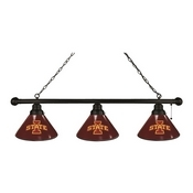 Iowa State 3 Shade Billiard Light with Fixture by Holland Bar Stool
