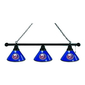 New York Islanders 3 Shade Billiard Light with Fixture by Holland Bar Stool