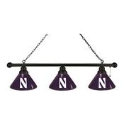 Northwestern 3 Shade Billiard Light with Fixture by Holland Bar Stool