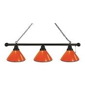 Orange 3 Shade Billiard Light with Fixture by Holland Bar Stool