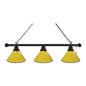 Yellow 3 Shade Billiard Light with Fixture by Holland Bar Stool