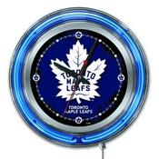 Toronto Maple Leafs Double Neon Ring, Logo Clock by Holland Bar Stool Company